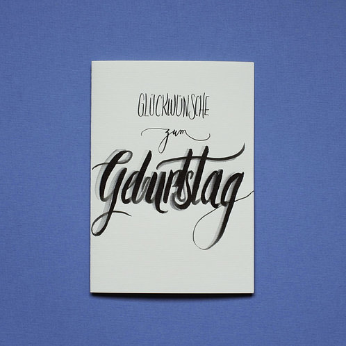 """""""Glückwunsch"""" - Karte"""