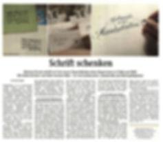 Schöne Handschriften in der Wiener Zeitung, Handschreiberei