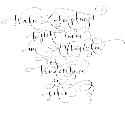 Linea-Kalli - Handschrift