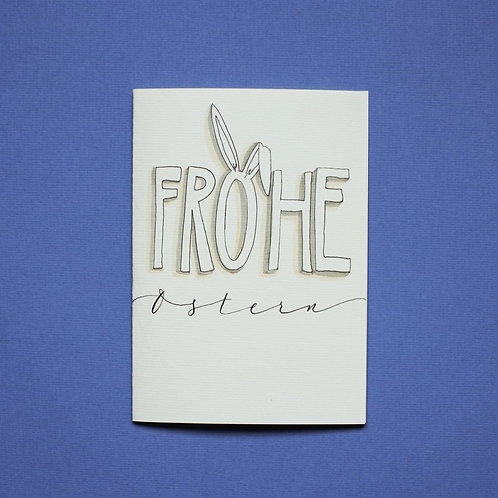 """Frohe Ostern"" - Karte"