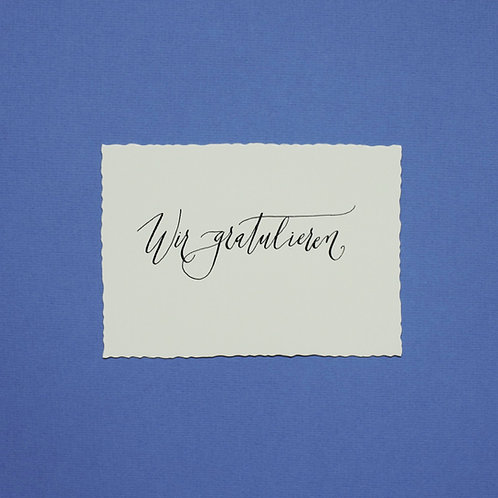 """""""Wir gratulieren"""" - Karte"""