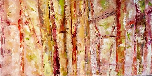 Waldwesen   230 x 100   Mischtechnik auf Leinwand