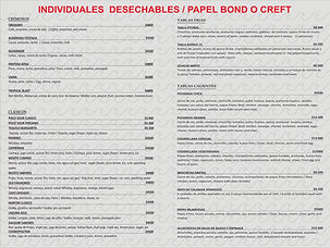 individual desechable papel bond o craft
