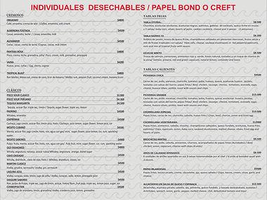 individual desechable papel bond o craft