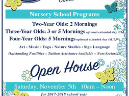 OPEN HOUSE Saturday, November 5th​​​