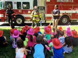 Special Visitors: Members of the Irvington Fire Department
