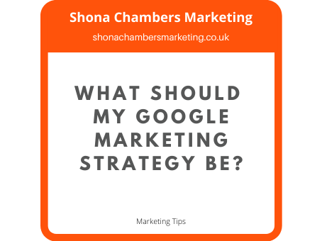 What should my Google marketing strategy be?