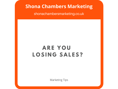 Are You Losing Sales? - Help Your Customer Make It To The Till