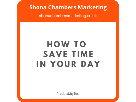 How to save time in your day