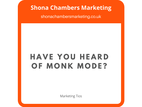Have you heard of Monk Mode?