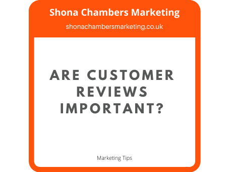Are customer reviews important?