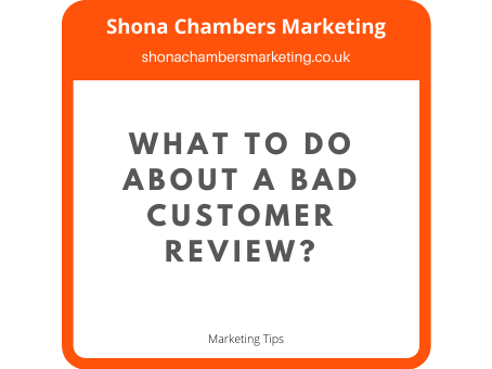 What to do about a bad customer review