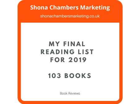 My final reading list for 2019 - 103 books