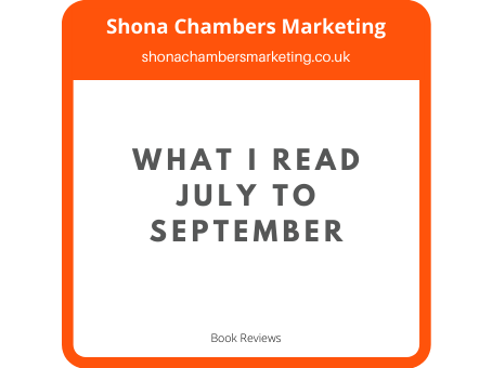 My reading from July to September 2020