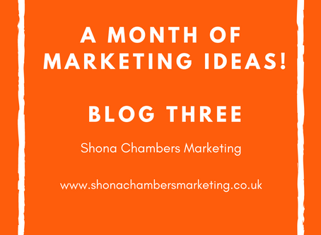 Week Three: A month's worth of marketing ideas. Focusing on Google.