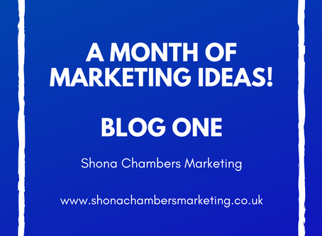 A months worth of marketing ideas. Easy ways to help refresh your marketing.