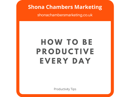 How to be productive every day
