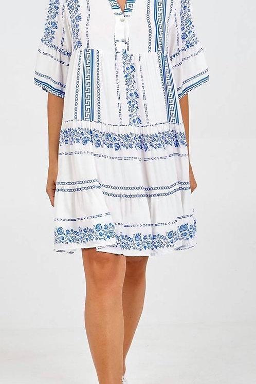 Aztec style shirt dress