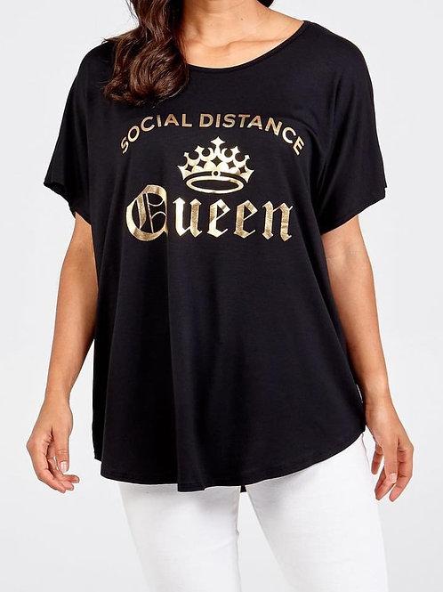 Social distancing queen t-shirt