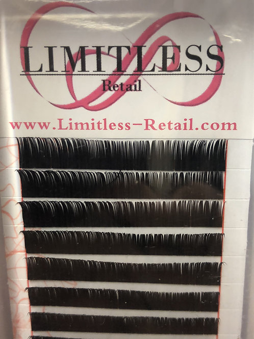 B curl mix length lashes