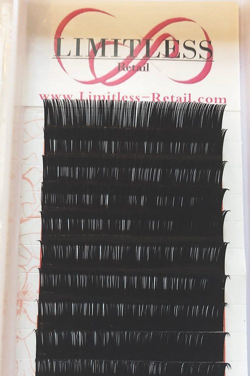 C curl mink mix length individual lashes