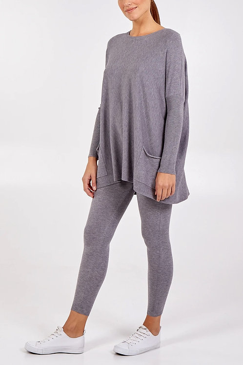 Crew Neck Batwing Top & Joggers Lounge Set
