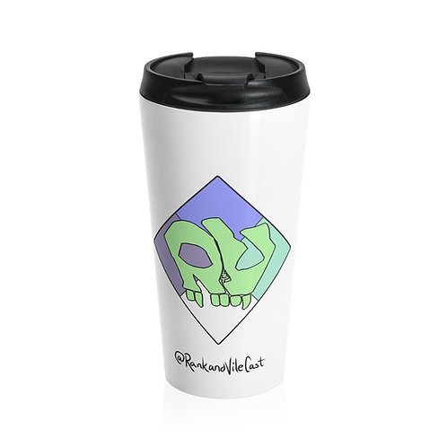 R&V Hazard Diamond Stainless Steel Travel Mug