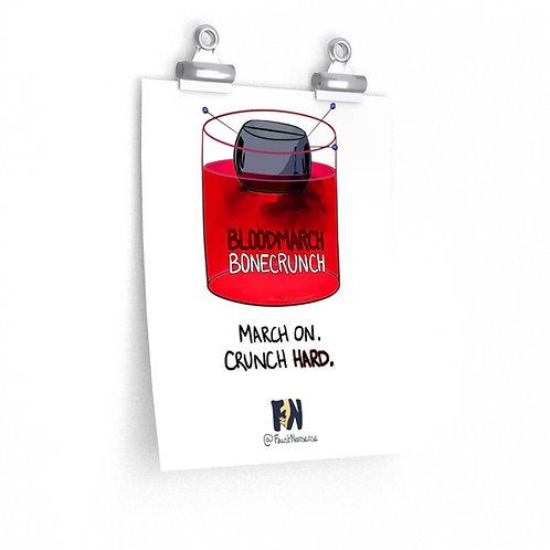 Bloodmarch Bonecrunch -- Avocado Racing (Premium Matte Poster)
