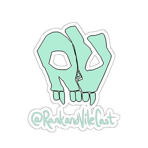 R&V Teal Kiss-Cut Stickers