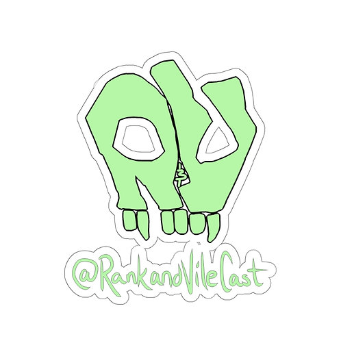 R&V Lime Green Kiss-cut Stickers