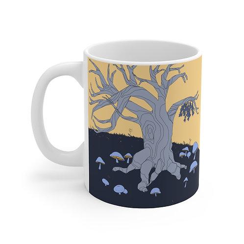 Mistletoe and Mushrooms | Ceramic Mug