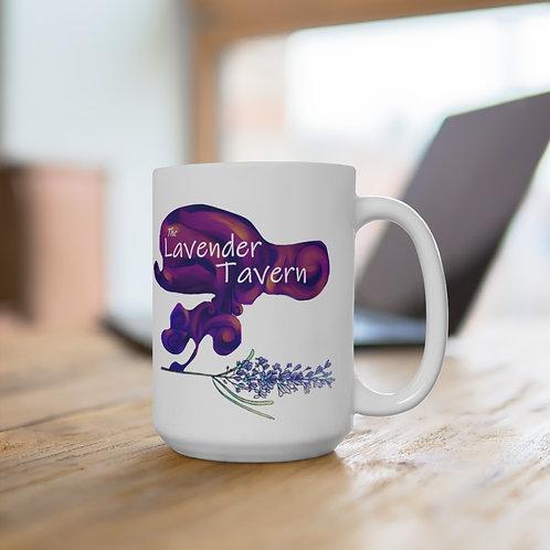 The Lavender Tavern   White Ceramic Mug