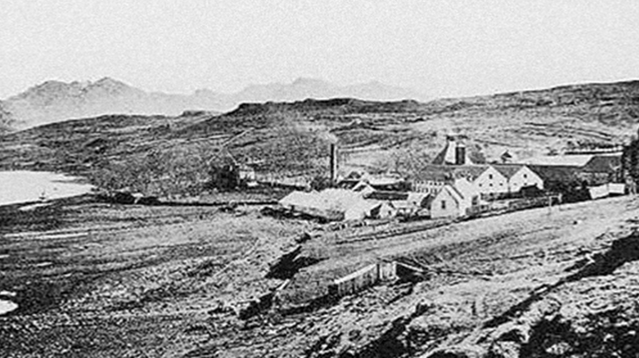 One of the first known photographs of the Talisker Distillery on Skye.
