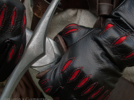 Assassin's Gauntlets inspired The Witcher 3: Wild Hunt (Leather gloves with bracers)