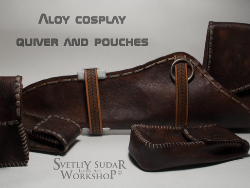 Aloy cosplay (leather quiver and pouches)