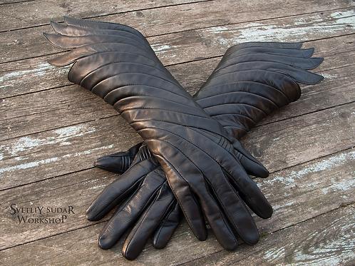 Designer Leather Gloves Dark Phoenix