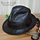 Thumbnail: Leather Fedora hat (Mickey O'Neil hat replica)