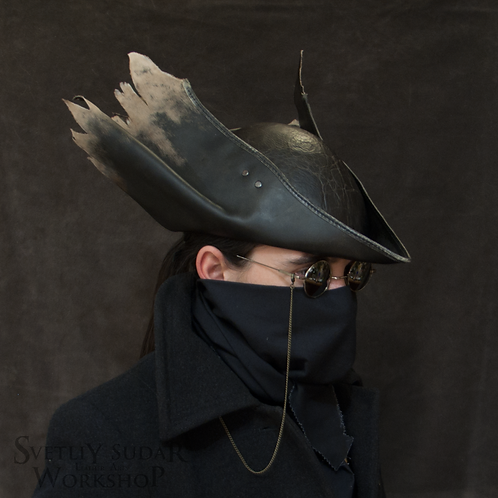 Inspired Bloodborne Hunter Leather Hat replica (v.3)