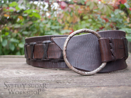 Viking Leather Belt (inspired Ragnar Lothbrok)