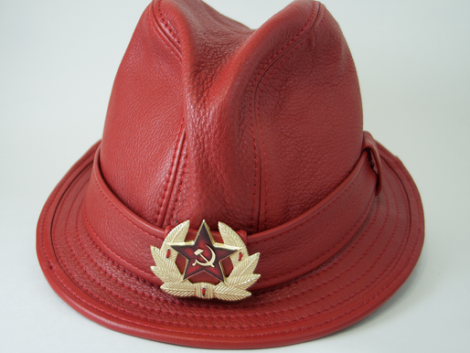 Red Alert Fedora Leather Hat