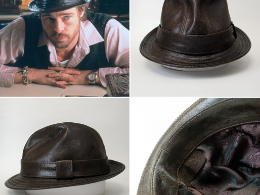 Mickey O'Neil leather fedora hat replica (Snatch)