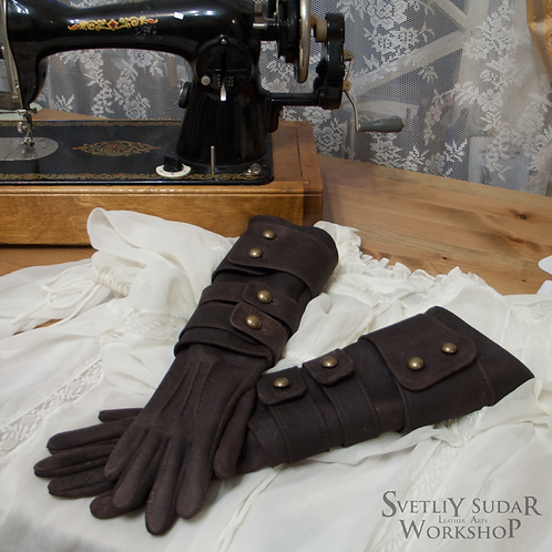 Inspired Bloodborne Lady Maria leather gloves (replica)
