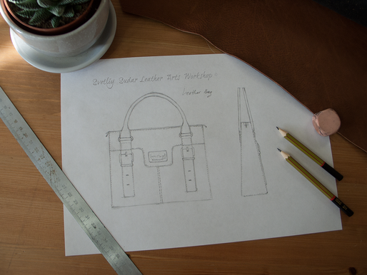 Working on a new leather bag…