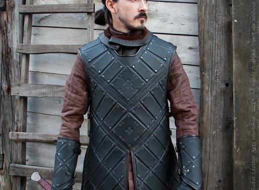 Jon Snow costume – black leather armor (replica)