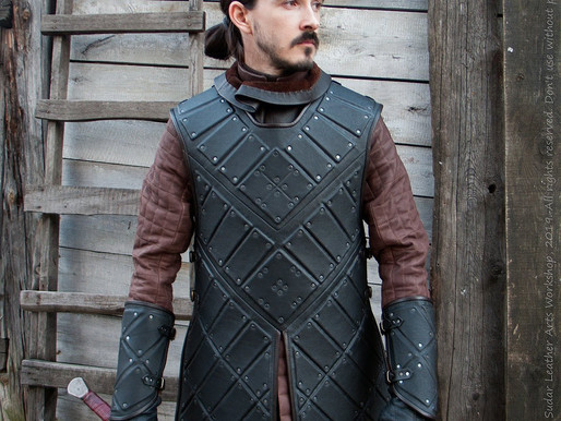 Jon Snow costume – black leather armor (replica)