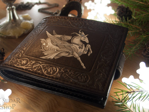 "Leather wallet ""Capricorn"""