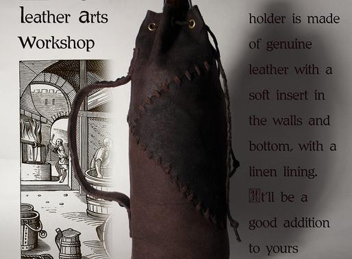 Leather Bottle Holder Medieval Style