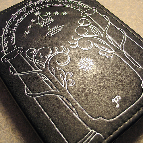 Handmade Leather Journal Ithildin (inspired Moria, LOTR)