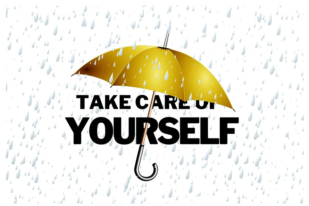 umbrella over the words, Take Care of Yourself.