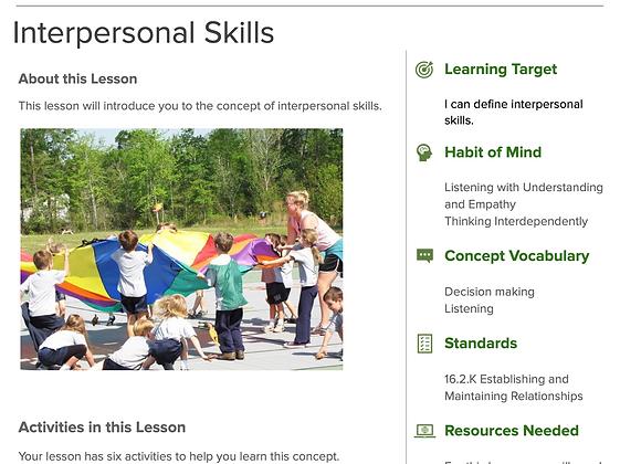 Lesson: Interpersonal Skills